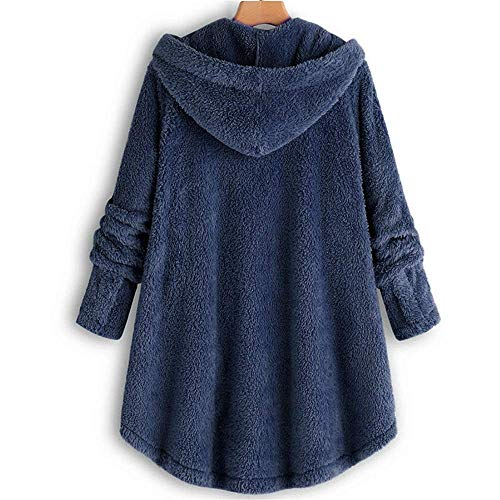 Zhuo Qun Shang Mao Frauen Jacke Winter Warmer Hoodie Knopf Lose Lange Plus Size Damen Mantel Für