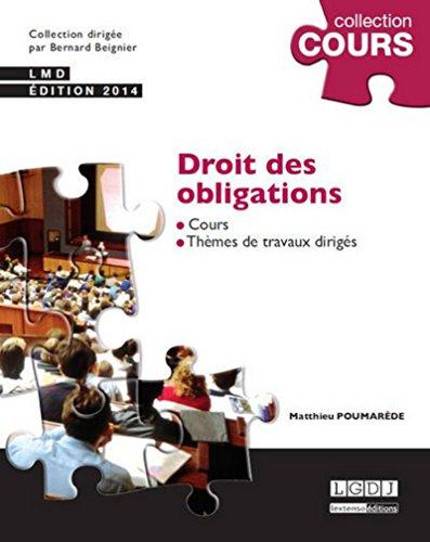 Droit des obligations, 3ème Ed.