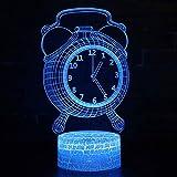 Tcaijing Luz de noche Luz nocturna led,Decoración de la Navidad luces tácticas teledirigidas coloridas del tacto del LED 3D Forma decorativa del reloj