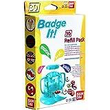 Bandai - 33301 - Kit De Loisirs Créatifs - Recharge Badge It! - 30 Badges - Jaune