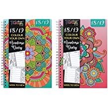 Agenda escolar con mandalas para pintar, 2017-2018, tamaño A5