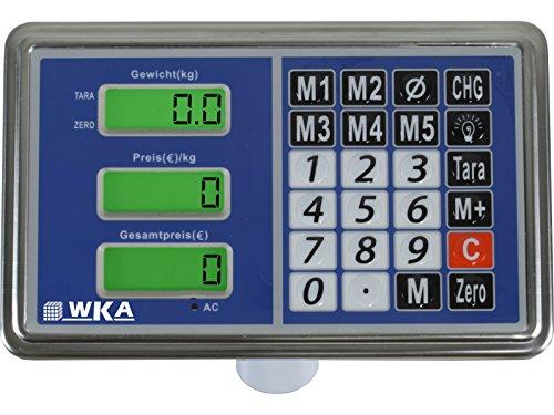 Plattformwaage WKA-UG150-5040 Max 150kg – Teilung 50g Bodenwaage Paketwaage Industriewaage Mobile Waage - 2
