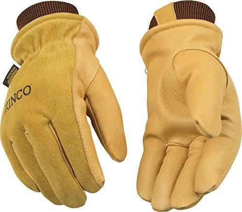 Kinco gefüttert Schweinsleder Handschuhe, L, schwarz, 1 -
