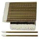 50 Stück Reinigungsstäbchen für die Wimpernverlängerung - Microblading - Microfaser und Fusselfrei - Lippenpinsel - in Gold