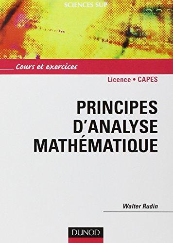 Principes d'analyse mathématique - Cours et exercices