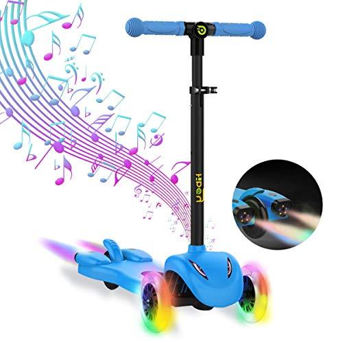 Hiboy S51 - Patinete con 3 Ruedas para niños con Música y Vapor, +3 Años, Azul
