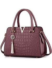 8c1aafeb7abd52 Modaworld Handtasche Damen Klein Umhängetaschen Tasche Rucksack Damen  Ledertasche Kleine Quaste Crossbodyn Leder Handtasche Alligator…