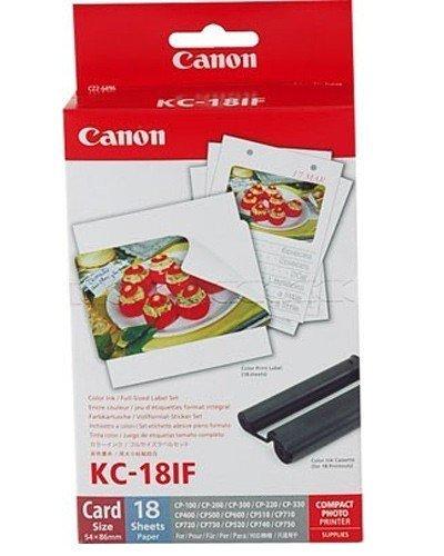 1x Original Canon Multipack KC-18IF KC18IF für Canon Selphy CP 1000 - 54x86mm, 18 Blatt, 1x Kartusche Farbig -
