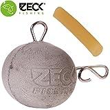 Zeck Heavy Stone Snap Fireball - Beton Fireballjig zum Vertikalangeln auf Waller, Gewichte zum Welsangeln mit wenig Scheuchwirkung, Gewicht:100g