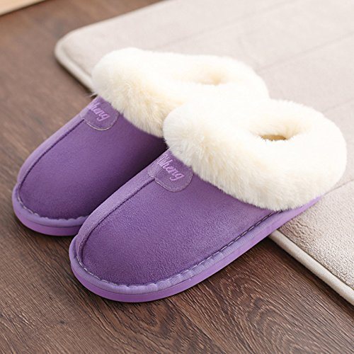 Inverno fankou pantofole di cotone di spessore home home pantofole caldi interni di ispessimento matura non - slittamento in autunno e in inverno le donne Hellbraun