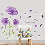 JYSPORT wandaufkleber kinderzimmer Blume Abnehmbar für DIY selbstklebende für Mädchen /Junge Paare Raumdekoration Multi-Stil (Liebe Blumen)