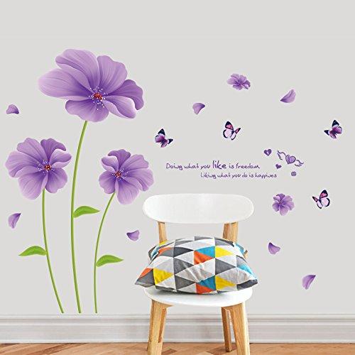 r kinderzimmer Blume Abnehmbar für DIY selbstklebende für Mädchen /Junge Paare Raumdekoration Multi-Stil (Liebe Blumen) ()
