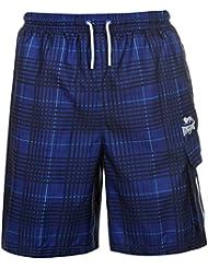 Lonsdale Hombre 2 Rayas De Cuadros Shorts Pantalones Cortos Deport Casual