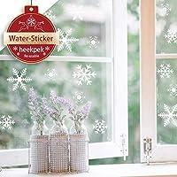 heekpek 81 Flocons de Neige Noël Autocollants Fenetre Amovibles Décoration Stickers Muraux pour Fenêtres Home Decor