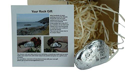 Geschenk zum 10. Jahrestag für Damen und Herren, mit englischsprachiger Aufschrift - You've Been My Rock For 10 Years -