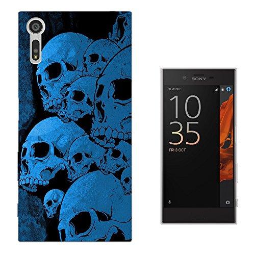 "002611 - Sugar Skull Dead Zombie Skull Scary Design Sony Xperia XZ 5.2"" Fashion Trend Silikon Hülle Schutzhülle Schutzcase Gel Rubber Silicone Hülle"