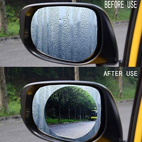 Vektenxi Premium-Qualität Auto-Rückspiegel-Schutzfolie, Anti-Fog-Folie Blendschutz Anti-Mist-Schutzfolie Wasserdicht Regenfest Rückspiegelfenster Klarer Schutzfilm -