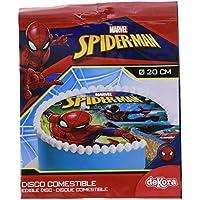 SPIDERMAN Disque Comestible sans Gluten 20 cm 19 g - Lot de 3