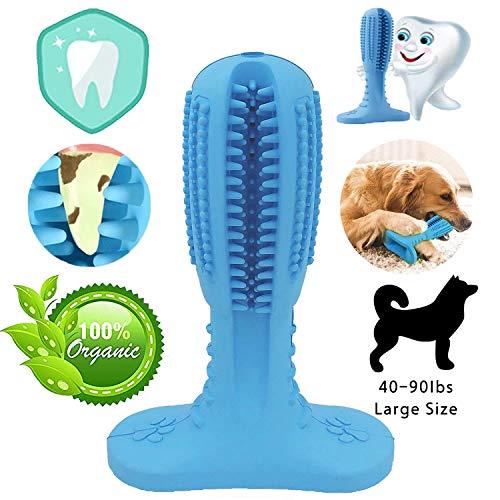 NUFOKG Hundezahnbürste aus robustem Gummi Kauspielzeug mit Zahnreinigungsborsten für mittelgroße und große Hunde - Hunde Hund Mittelgroße Knochen Für