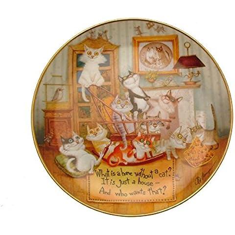 Il meraviglioso Saggezza dei gatti del gattino di casa che ammortizza GB49 Collector Plate