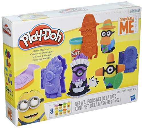 Hasbro play-doh makin 'mayhem set featuring despicable me minions
