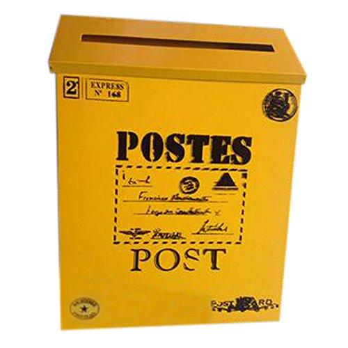 Brief Post Box Wand Wasserdicht Postfach Mit Dekorative Box, Gelb Gro?es Wort