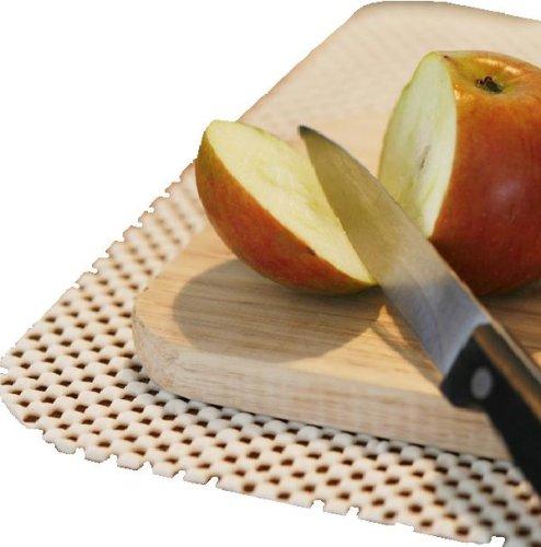 4 rutschfeste Untersetzer aus innovativem StayPut-Stoff, Almond, verhindert Verrutschen von Geschirr und schützt Oberfläche, Ideal für das Haus, Boot, caravan oder Kindergarten. (Almond Stoff)