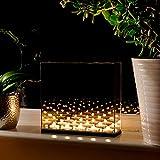 Maison & White Scatola per specchi per candele luminose Infinity Tea | Decora lo specchio dell'illusione ottica | Effetto magico | Regalo perfetto