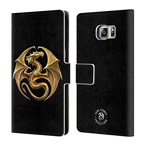 Official Anne Stokes Dragon Medal Fire Tribal Leather Book Wallet