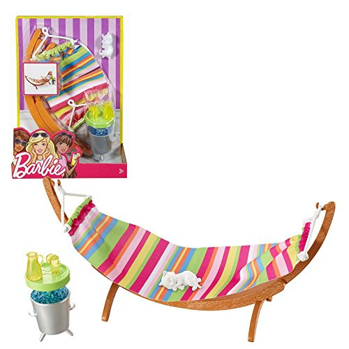 Barbie - mobili da giardino - Outdoor Hammock Set & Accessori