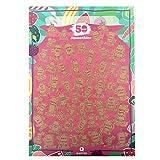 Qapter Poster Rubbelkarte - 55 Smoothies, mit Rezeptebuch - Bucketliste als Perfektes Geschenk für Freunde, Familie und Alle Gesundheitsbewussten, Mehrfarbig, DINA2 (59,5 x 42 cm)