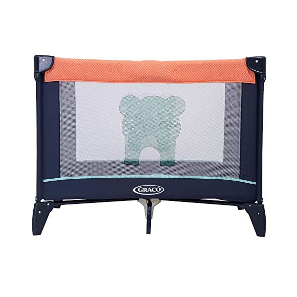 Graco Compact Playpen, Caravan Graco Easy to assemble playpen for all your travel needs; from birth to approx. 3 years Signature graco push-button fold makes closing your playpen quick and hassle-free Fully padded top rails 1