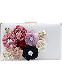 Babeyond Flower Clutch Purse Wallet Flower Clutch Bags With Strap Floral Clutch Handbag With Pearl For Evening... - B075D3C8RV