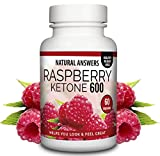 NEW Raspberry Ketone 600 by Natural Answers - 60 Capsules 1 Month Supply - Maximum Strength Fat Burning Supplement - Pure Appetite Suppressant Formula - Quick Weight Loss - UK Manufactured Slimming Aid
