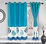 Elan Cotton Abir Window Curtain - Size 1...