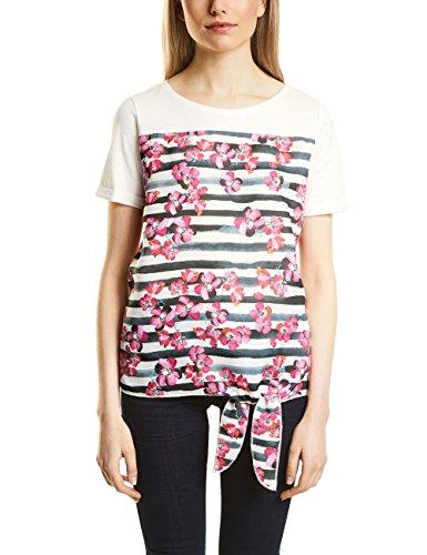 Street One Damen T-Shirt Mehrfarbig (Off White 30108)