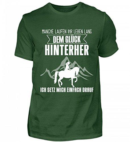 Shirtee Mens Premiumshirt Alta Qualità - Idea Regalo Cavalli Per Cavalli / Fan Equestri · Motivo Cavallo / Slogan · Colori Diversi Verde Scuro