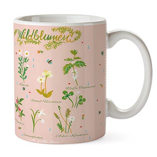 Mr. & Mrs. Panda Tasse - 100% fait main en Allemagne du Nord - Fleurs sauvages Fleurs sauvages, fleurs, fleur, Fleurs sauvages Tasse, Mug, Tasse à Café, Tasse à Thé, Thé, Cup cadeau, à offrir ou petit déjeuner