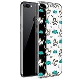 ZhuoFan Funda Xiaomi Mi 8 Lite, Cárcasa Silicona Transparente con Dibujos Diseño...
