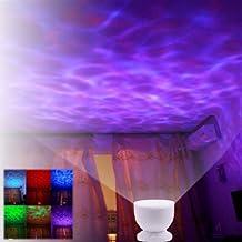 amzdeal® Luz nocturna LED, luces led, Lámpara nocturna, Lampara noche, bombillas bajo consumo, Ocean Relax Proyector,Lámpara nocturna, Lampara noche,Proyección de música con la lámpara USB + MP3 altavoz para bebe, luz infantil para niño niña, Altavoz, Luz Nocturna Océano/Mar, Luz Marina, Luz de la noche del LED, Lámpara oceano con Luz de la lámpara USB Y MP3 Altavoz Regalo Foco de Noche Enchufe norma de la UE