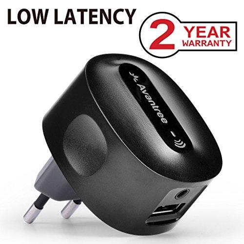 Avantree Bluetooth 4.2 Empfänger für Stereoanlage mit Stecker, aptX Low Latency Musik Receiver Adapter mit 3,5mm Aux Cinch Kabel für Musikstreaming-Soundsystem, HiFi - Roxa Plus [2 JahrGarantie]