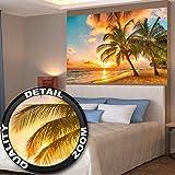 Barbados playa atardecer mural deby GREAT ART (140 x 100 cm)