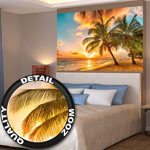 barbados-spiaggia-nel-tramonto-quadro-da-parete-fotomuraleby-great-art-140-x-100-cm