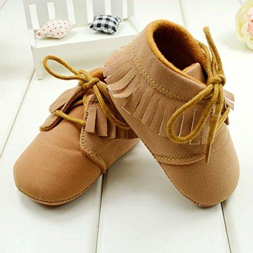 Silvercell Baby Tassel prewalker Babyschuh Oxford Loafer-Ebene-Schuhe 3-12M Brown