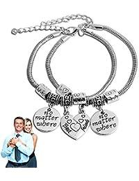 9b41b66676c5 Brazaletes de los mejores amigos partido roto corazón pulseras dobles Set  pulsera de la amistad regalo de diseño…