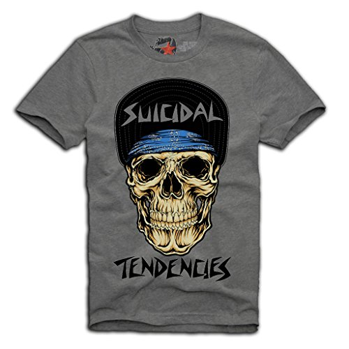 "E1SYNDICATE ""SUICIDAL TENDENCIES"" T-SHIRT S/M/L/XL PUNK HARDCORE ROCK GREY"