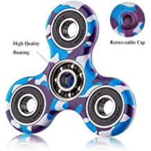 Fidget Hand Spinner Camo Prime Metal Gold Cheap American Flag Black Blue Red ADHD Autism Toy Stress Reducer, Anti-Anxiety Boredom, Long Spin Time Silent Stainless Steel Focusing Kid Safe Design Fast Jouet à Main
