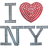 Pailletten Bügelbild / Applikation von Unique (I love New York), 1 Stück