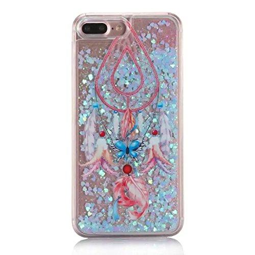 iPhone 6/6S Hülle - 3D Kreatives Design Luxus Shiny Flow Sand Entzückende Fließende Schwimmende Moving Shiny Glitzer Sequins Bling Cute Pattern Shell für iPhone 6/6S - Girl Boss 12-K