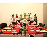 JINBOSHI - Set di 4 tovagliette per Tavolo da Pranzo Natalizie, Placemat A
